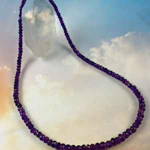 Jewelry - Healing Crown Chakra Amethyst Rondelle Necklace